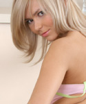 Young Blonde Undressing And Spreading Her Pussy Lips - Picture 7