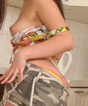 Naughty Teen Playing Herself At The Kitchen - Picture 5