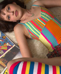 Sexy Brunette Teen Taking Off Her Clothes - Picture 5