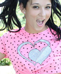 Pigtailed Brunette Teen Strips And Fucks Her Tight Holes Outdoors - Picture 1