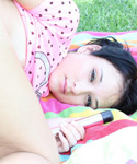 Pigtailed Brunette Teen Strips And Fucks Her Tight Holes Outdoors - Picture 8