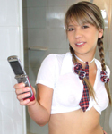 Schoolgirl Bree Taking Pics Of Her Breast - Picture 8