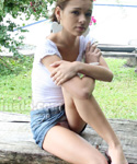 Pretty Teen Sexy Wild On Park - Picture 1
