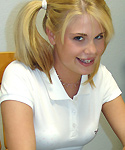 Blonde Teen Showing Off Titties - Picture 1