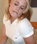 Blonde Teen Showing Off Titties - Picture 5