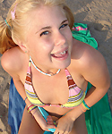 Sexy Summer Posing Naughty On Beach - Picture 5