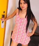 Teen Lilly Feels Hot Taking Her Dress Off - Picture 2