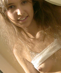 Pretty Teen Posing Naked On The Window - Picture 4